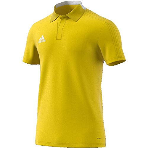 adidas Condivo 18 Cotton Polo Homme, Yellow/White, FR (Taille Fabricant : 2XL)