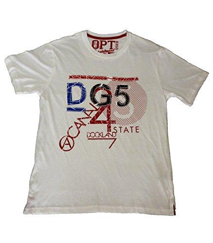 Oldport - Camisetas de Manga Corta - para Hombre (Blanco, XL)