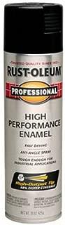 Rust-Oleum 7579838 Professional High Performance Enamel Spray Paint, 15 oz, Gloss Black