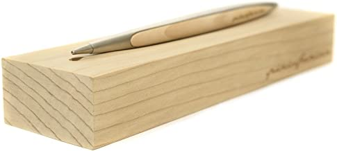 Pininfarina Cambiano Stilo con punta de Ethergraf -caja de madera de cedro multisensorial-Aluminio satinado