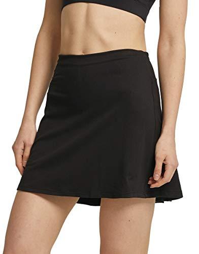 Westkun Falda de Golf Tenis y Deportiva Informal para Mujer Skort con Bolsillos y Pantalones Cortos Moda y Comodo(Negro,M)