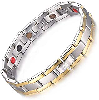 Titanium Magnetic Therapy Bracelet Germanium Bracelet for Promote Blood Circulation Anxiety Pain Relief