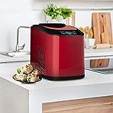 KAR Fabricante De Helados, Display Digital Automático para Hacer Helado De Acero Inoxidable Red Sliver Autorrefrigeración Ice Cream Makers