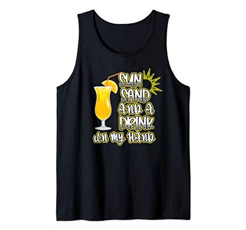 Kreuzfahrturlaub Sonne Sand & ein Getränk in der Hand Tank Top