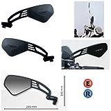 Par Espejos retrovisor para Moto Far Viper 9Ultra Plana homologado Negro para KTM 1190RC82008–2010