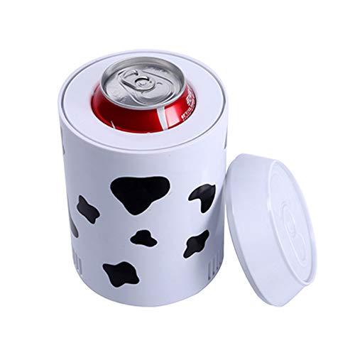 YICHEN Mini Refrigerador Y Calentador De Refrigerador Mini Nevera USB Refrigerador para La Escuela De Dormitorio De Oficina,Blanco