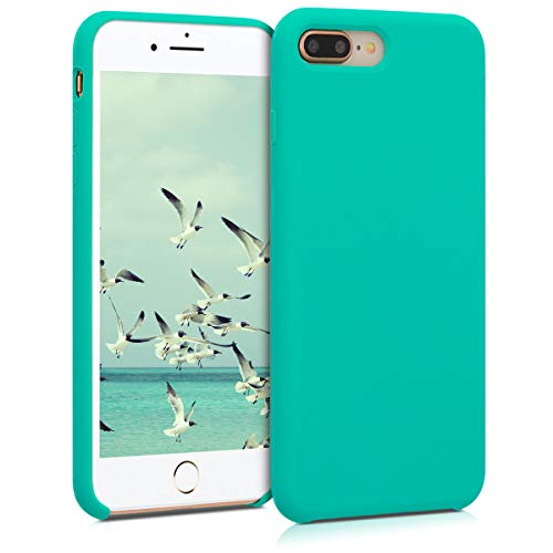 kwmobile Funda Compatible con Apple iPhone 7 Plus / 8 Plus - Carcasa de TPU para móvil - Cover Trasero en Turquesa