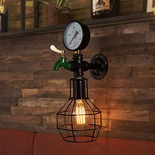 WYZXR Lámpara de Pared de Grifo Loft Industrial Retro, decoración de la Pared de la habitación Interior, lámpara de Pared de Tubo de Metal Creativo, para Bar, Restaurante, Estudio