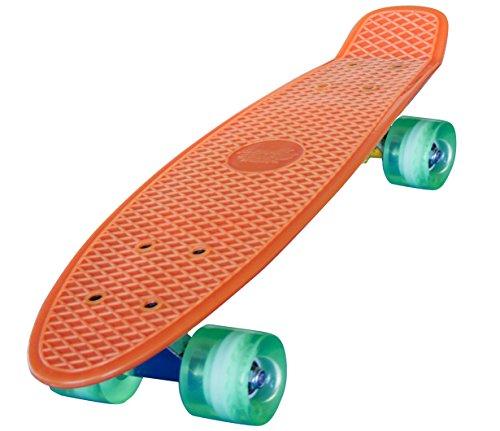 Streetsurfing Skateboard 22 Beach Board, Orange, One Size