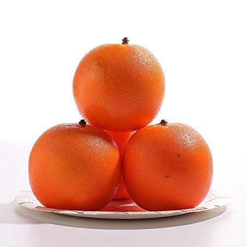 Cozyhoma 12 piezas de naranjas artificiales de simulación realista, simulación de fruta artificial naranja para el hogar, cocina, tienda, hotel, fiesta, decoración