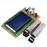 MOZUSA Impresora 3D de Piezas 3D del Adaptador de Impresora del Controlador LCD Ajustable 12864 Display for Las rampas 1.4 Reprap