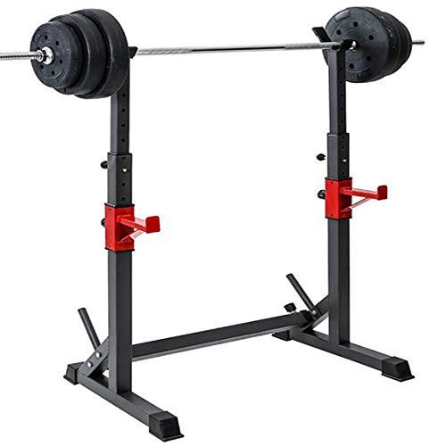 Soporte de mancuerna de escapada ajustable, barra de rack ajustable, estante de cuclillas de gimnasio adecuado para equipos de fitness y fitness al aire libre para entrenamiento con pesas en casa