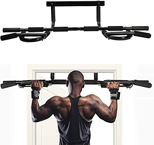 U`King Barras de dominadas montadas en la pared pull-up Barra de gimnasio en casa Soporte de ejercicio de acero inoxidable con múltiples funciones de fitness
