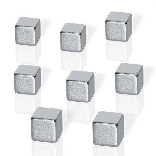 Be!Board B3101 Neodym-Magnete, im XL Format, gut zu greifen, extrem stark, 8er-Set würfelform