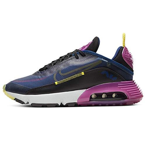 Nike Da Donna Air Max 2090 Da Donna Casual Scarpe Da Corsa Ck2612-400, Blu (Blu vuoto/Nero/Fucsia attivo/Giallo Cromo), 40 EU