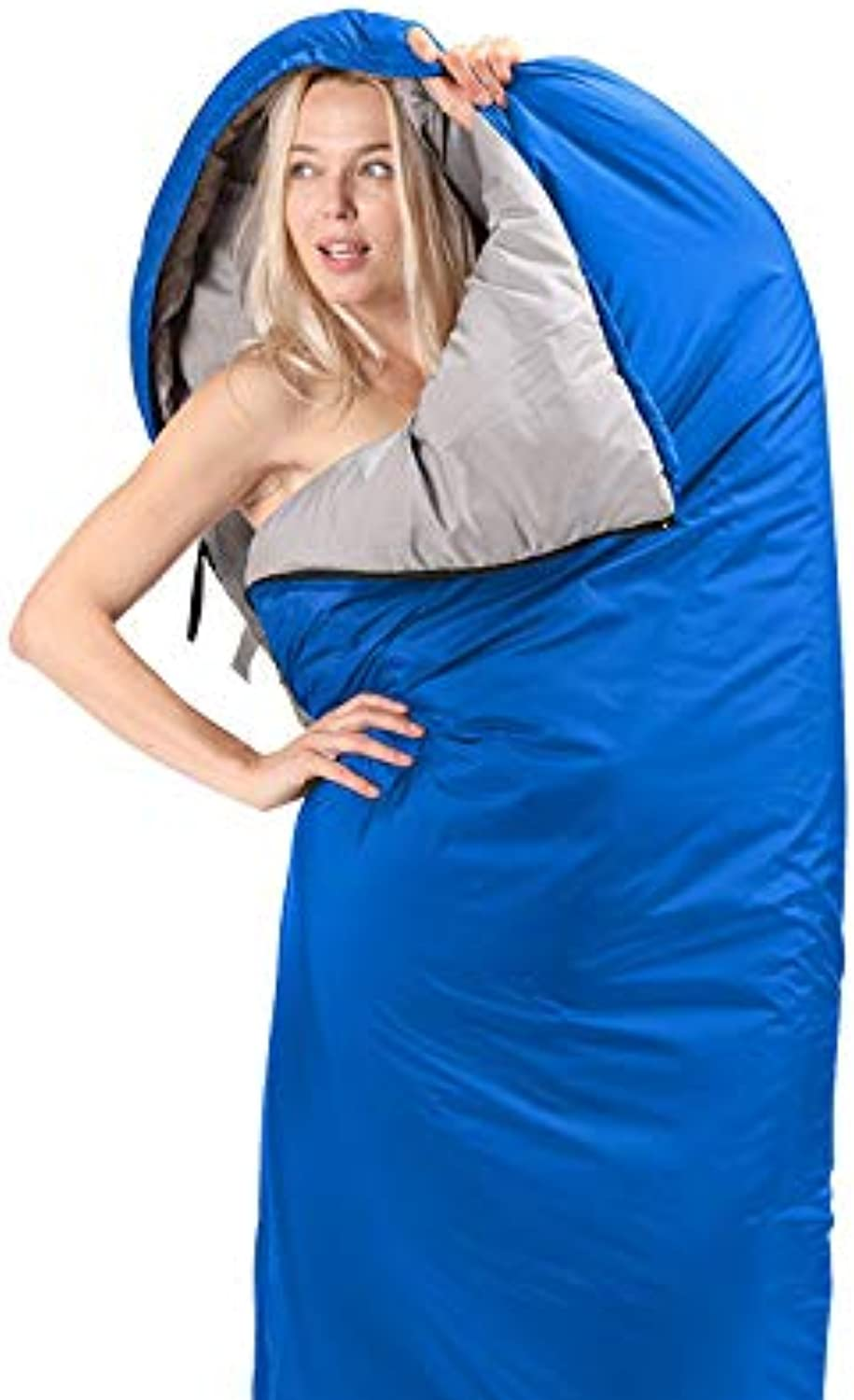 Outdoor Sleeping Bag, Envelope Portable and Lightweight for 34 Season Warm Camping Gear Equipment, Traveling, and Outdoors