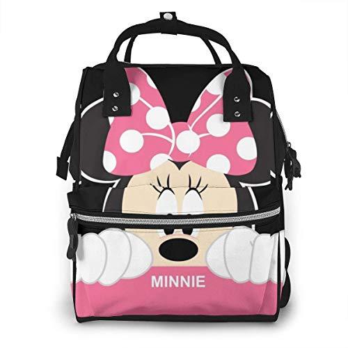 NHJYU Bolsa de pañales Mochila - Mi-n-n-ie Multifunction Waterproof Travel Mochila Maternity Baby Nappy Changing Bags