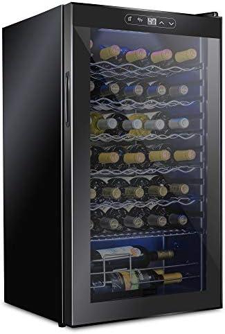 Schmecke 34 Bottle Compressor Wine Cooler Refrigerator w Lock Large Freestanding Wine Cellar product image