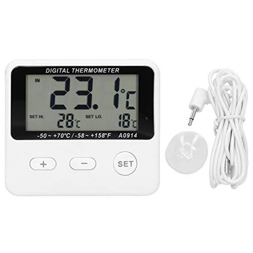 Omabeta Termómetro portátil para frigorífico Termómetro práctico con Alarma para frigorífico Termómetro Digital para congelador para Interiores o Exteriores