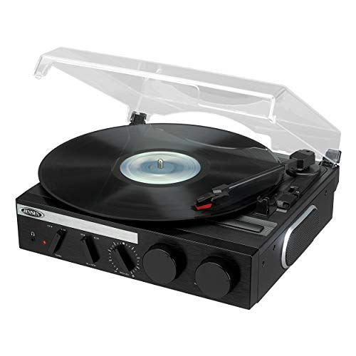 Jensen 3-Speed Stereo Turntable with Built in Speakers