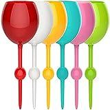 GDGAYSGBS Bicchiere da Spiaggia Galleggiante colorato, Bicchieri da Cocktail in Acrilico Resistente alla Rottura Senza Cuciture per la Spiaggia della Piscina (6 Pezzi)