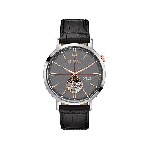 Bulova orologio automatico uomo cinturino pelle 98A187