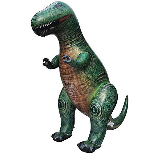 Jet Creations Inflatable Giant Tyrannosaurus 126 inches Long green dinosaur toys outdoor lawn for kids and adults, DI-TYR10, Black401