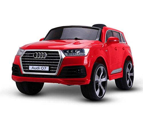 Macchina elettrica Rosso LT855 per Bambini Audi Q7 monoposto 12V con Telecomando. Media Wave Store ®