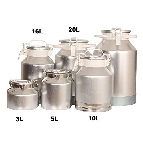 Isunking Aleación de Aluminio Leche Barriles de Transporte de Vino Cubo de Almacenamiento de latas de Aluminio Sellado (16L)