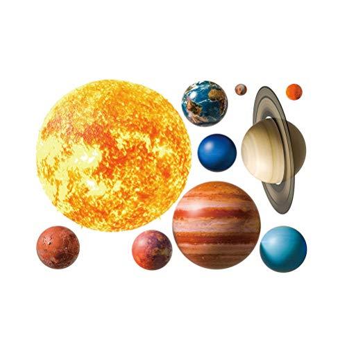 Sistema solar Amosfun Espacio Planeta Pegatinas de pared Tatuajes ...