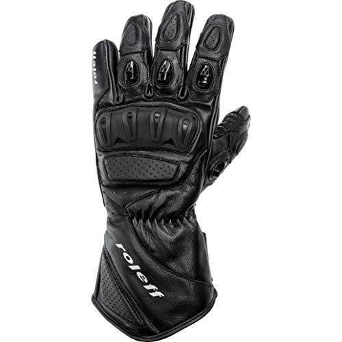 Roleff Motorradhandschuhe lang Motorrad Handschuh Sport Lederhandschuh 1.0 schwarz XL, Unisex, Sportler, Sommer