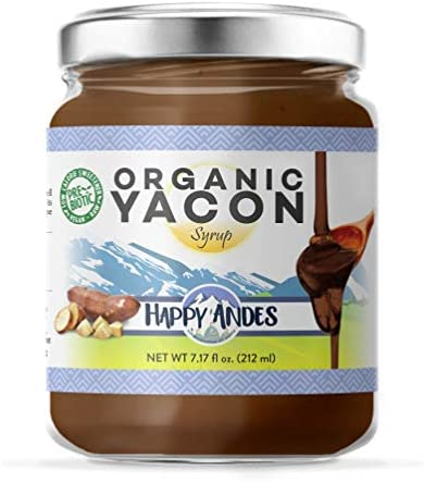 Happy Andes Organic Yacon Syrup oz 100 Vegan Raw LowCalorie Peruvian Sweetener Sugar Substitute product image
