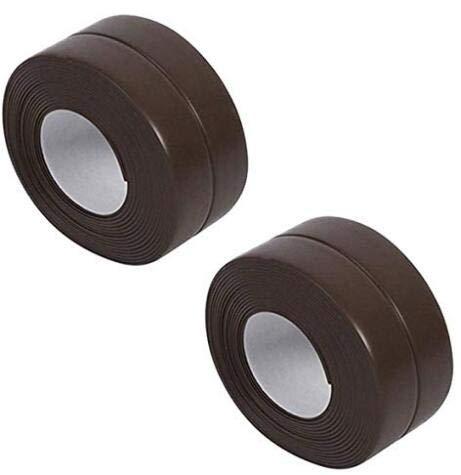Tafeiya 2pack Caulk Strip Sealing Tape Zelfklevende Sealant Roll Trim voor Badkamer Keuken Toilet Douche Badkuip Sealant Wandvloer Tegel Sealer Waterdicht Wit 38mm x3.2m