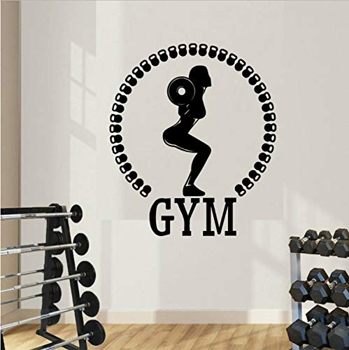 ZGQQQ Pegatinas De Pared De Barra Moderna Moda Etiqueta De La Pared para Gym Company Escuela Oficina Decoración Mural Extraíble