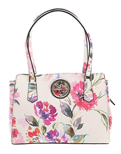 Guess Open Road Luxury Satchel Pink Floral