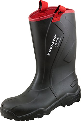 Dunlop Protective Footwear Purofort Rugged full safety Unisex-Erwachsene Gummistiefel, Schwarz 42 EU