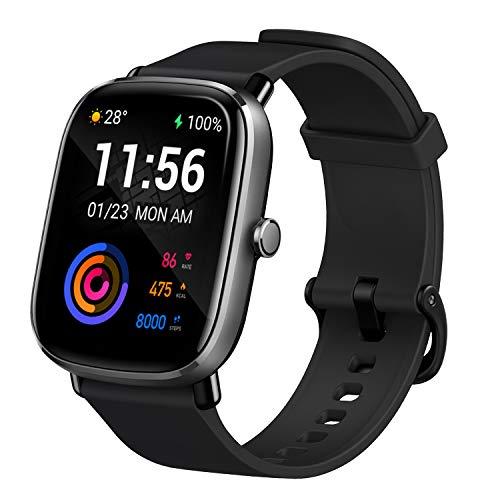 Amazfit GTS 2 Mini Smartwatch Orologio Intelligente AMOLED da 1,55', 70 Modalità di Allenamento con GPS, 5 ATM Impermeabile, Monitor del Sonno, Durata della Batteria di 14 giorni, Uomo, Donna (Nero)