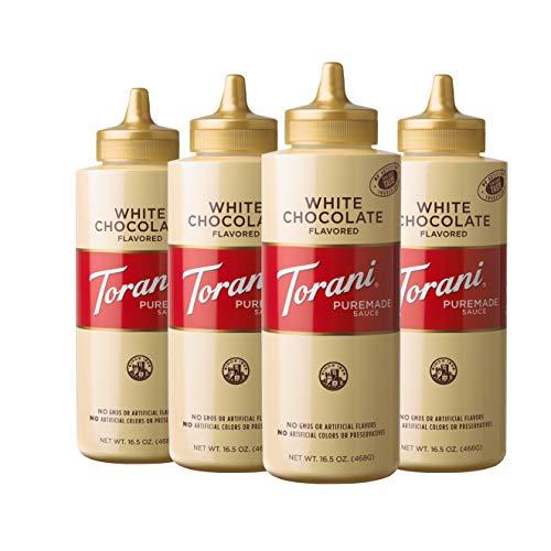 Torani Puremade White Chocolate Sauce, 16.5 Ounces (Pack of 4)