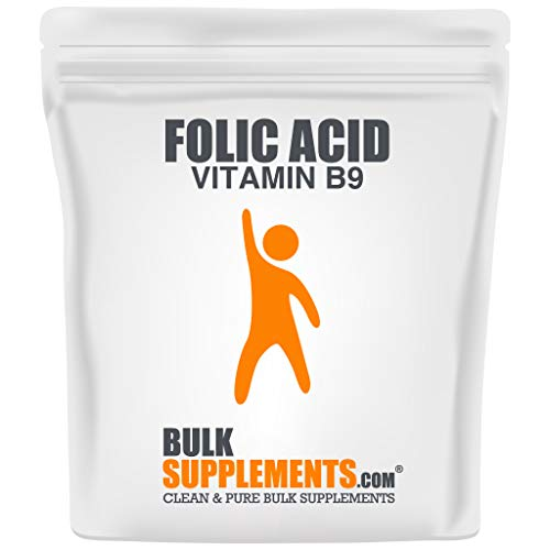 BulkSupplements.com Folic Acid (Vitamin B9) Powder - Folate Supplement for Women - Folic Acid 800mcg - Prenatal Dog Vitamins - Vegan Iron (100 Grams - 3.5 oz)