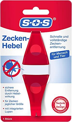 SOS Zecken-Hebel   Zeckenentfernung   Zeckenentferner   Alternative zur Zeckenzange   Für Mensch und Tier   Mit Lupe