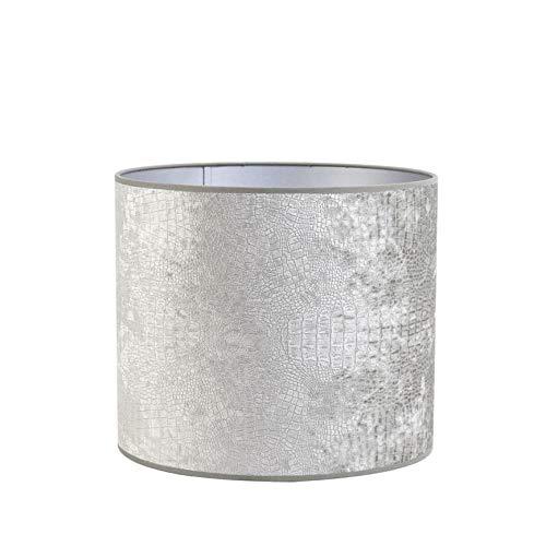 Light & Living lampenkap cilinder 35-35-30 cm CHELSEA velours zilver voor woonkamer eetkamer slaapkamer enz.
