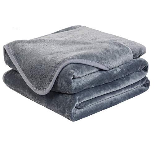Soft Travel Size Blanket All Season Warm Fuzzy Microplush Lightweight Thermal Fleece Blankets for...