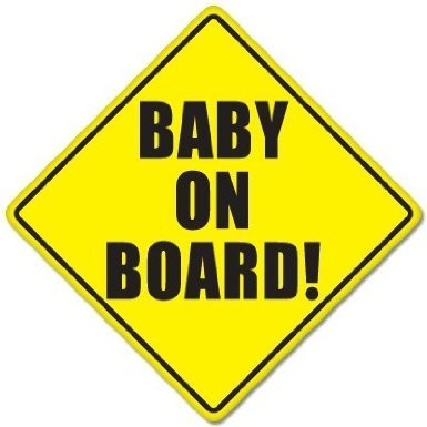 Autocollant en forme de panneau baby oN bOARD baby safety sign véhicule 127mmx 127 mm