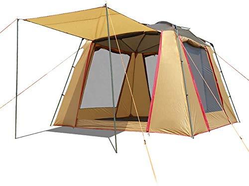 LKOER Tienda, 5-6 Persona Tienda de campaña al Aire Libre Sol al Aire Libre cabaña Impermeable toldo de la Sombra para Deportes Senderismo Viajes Camping de Lluvia, jinyang