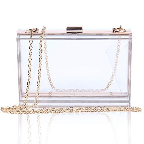 EVEOUT Frauen Acryl Transparente Abend Kupplungen Klare Box Gelee Handtasche Cross Body Handtasche Tasche Damen Geschenk