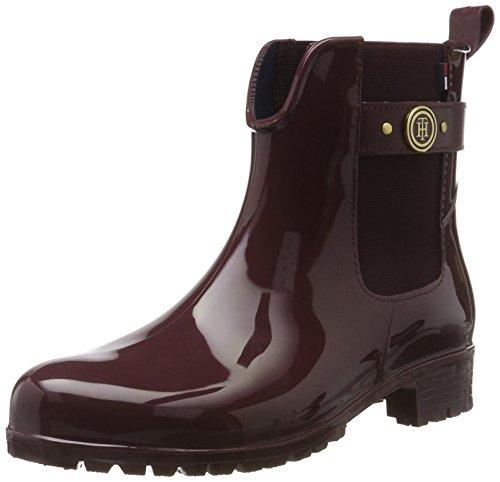 Tommy Hilfiger Tommy Hilfiger Damen O1285XLEY 13R Chelsea Boots, Rot (Decadent Chocolate), 41 EU