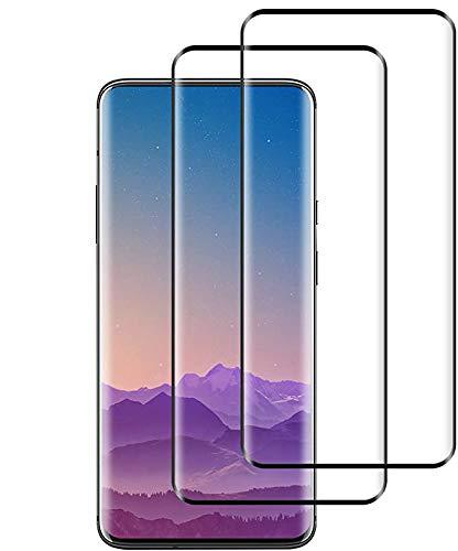 Wiestoung Panzerglas Schutzfolie für OnePlus 7 Pro, [2 Stück] [3D Volle Bedeckung] [Anti-Kratzer] [Blasenfreie] [9H Festigkeit] [HD Klar] Panzerglasfolie Bildschirmschutzfolie für OnePlus 7 Pro