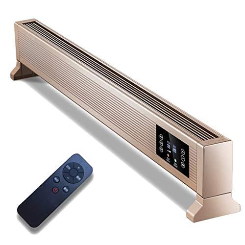 ECGZS Radiador Convector Electrico Baja EnergíA, Calentador Convector Calentador de ZóCalo para Familiar - Mando A Distancia/Silencioso/Termostato/Temporizador 24 Horas/Pantalla LCD/2 Potencias,2200W