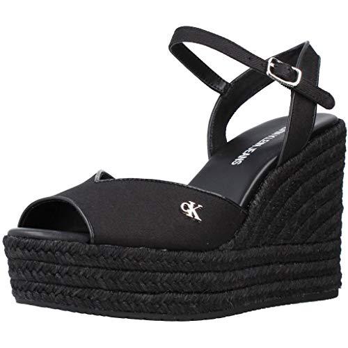 Calvin Klein Jeans YW0YW00121 Sandalias con cuña Mujer Negro 39