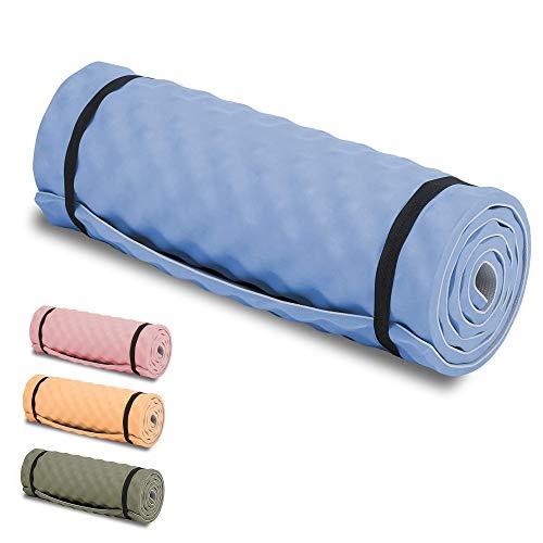 HIGHLANDER Comfort Camping Mat - Tapis de Voyage léger Enroulable Idéal pour Le Camping, Les Festivals ou même Les séances de Yoga (Bleu)